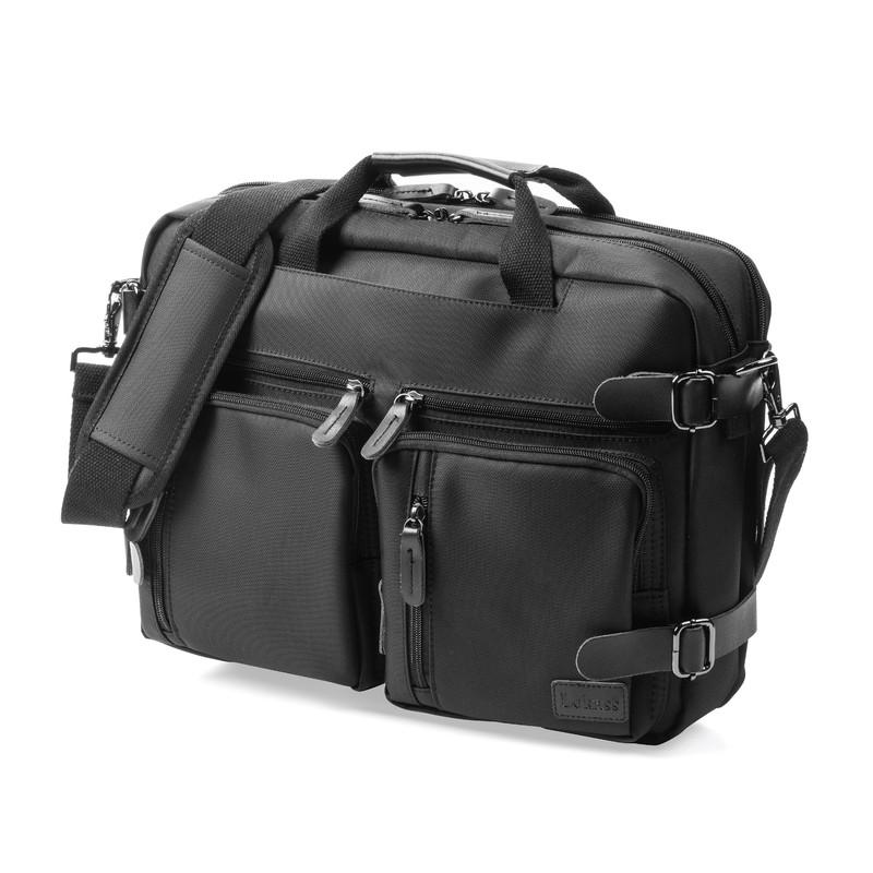 Lokass 3way ビジネスバッグ リュック バックパック ショルダーバッグ PCバッグ A4対応 通勤 出張 営業 撥水 防水 メンズ ブラック WEB企画品 NEO1-BGS004BK★