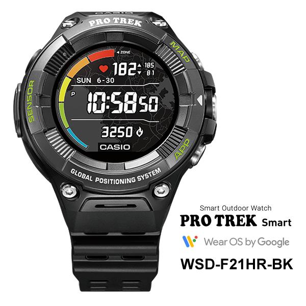 PROTREK Smart (Smart Outdoor Watch / スマートアウトドアウオッチ) 心拍計搭載 ブラック CASIO (カシオ) WSD-F21HR-BK★
