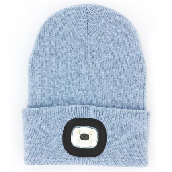 LED Beanie Blue アクリルニット帽 NIGHT SCOUT KNS0008 即納 ブルー 春の新作続々