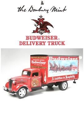 【ダンバリーミント】 1/24 ダイキャストカ― バドワイザークリスマストラック(1930年代) 【玩具:模型:車】【1/24 ダイキャストカー】【DANBURY MINT】