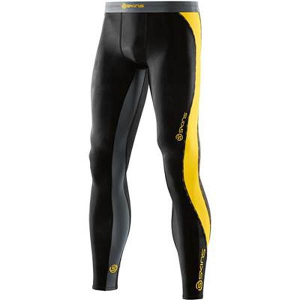 【スキンズ】 DNAmic メンズ ロングタイツ 日本正規品 [カラー:ブラック×シトロン] [サイズ:XS] #DK9905001-BKCR 【スポーツ・アウトドア:その他雑貨】【SKINS】