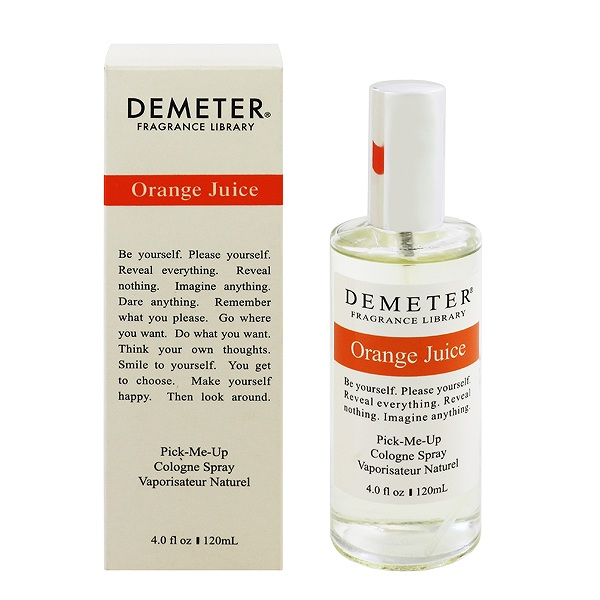 【ディメータ―】 オレンジジュース オーデコロン・スプレータイプ 120ml 【香水・フレグランス:フルボトル:ユニセックス・男女共用】【DEMETER ORANGE JUICE PICK-ME UP COLOGNE SPRAY】