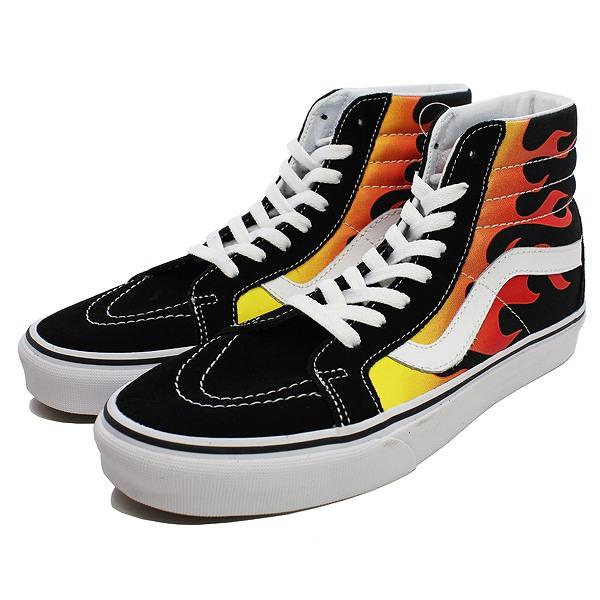 【バンズ】 バンズ スケートハイ (フレーム) [サイズ:26.5cm(US8.5)] [カラー:ブラック×ブラック×ホワイト] #VN0A2XSBPHN 【靴:メンズ靴:スニーカー】【VN0A2XSBPHN】【VANS VANS SK8-HI REISSUE (FLAME)BLACK/BLACK/TRUE WHITE】