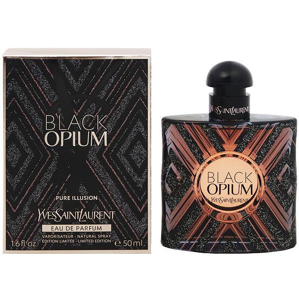【イブサンローラン】 ブラック オピウム ピュアイリュージョン オーデパルファム・スプレータイプ 50ml 【香水・フレグランス:フルボトル:レディース・女性用】【オピウム】【YVES SAINT LAURENT BLACK OPIUM PURE ILLUSION EAU DE PARFUM SPRAY】
