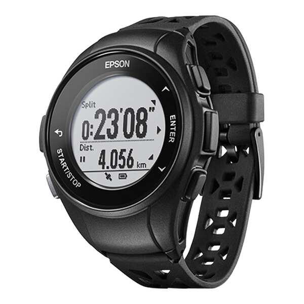 【エプソン】 WristableGPS(リスタブルGPS) Q-10B GPSウォッチ [カラー:ブラック] #Q10B 【スポーツ・アウトドア:ジョギング・マラソン:ギア】【EPSON】