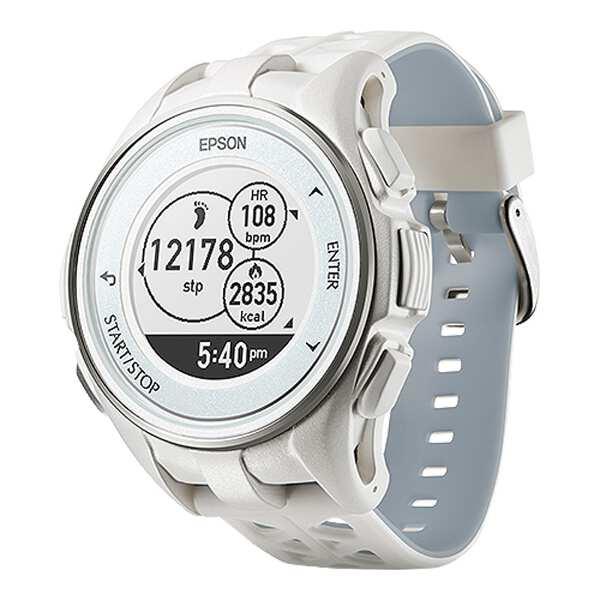 【エプソン】 WristableGPS(リスタブルGPS) J-300W 脈拍計測機能搭載GPSウォッチ [カラー:ホワイト] #J300W 【スポーツ・アウトドア:ジョギング・マラソン:ギア】【EPSON】