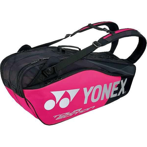 【全品ポイント10倍(要エントリー) 1ヶ月限定】 【送料無料】 ラケットバッグ6(リュック付) テニスラケット6本用 [カラー:ブラック×ピンク] #BAG1802R-181 【ヨネックス: スポーツ・アウトドア テニス ラケットバッグ】【YONEX】