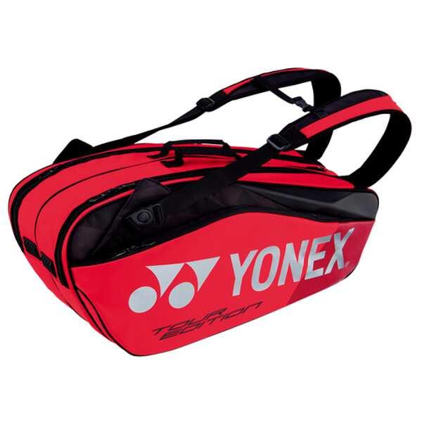 【ヨネックス】 ラケットバッグ6 リュック付(テニスラケット6本用) [カラー:フレイムレッド] [サイズ:78×26×34cm] #BAG1802R-596 【スポーツ・アウトドア:その他雑貨】【YONEX】