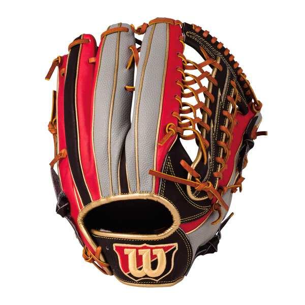 【ウィルソン】 (左投げ用)Wannabe HERO DUAL 外野手用 一般軟式野球グラブ(左投げ) [カラー:ブラック×レッド×グレーSS] [サイズ:12] #WTARHED8FR-923GS 【スポーツ・アウトドア:野球・ソフトボール:グローブ・ミット】【WILSON】