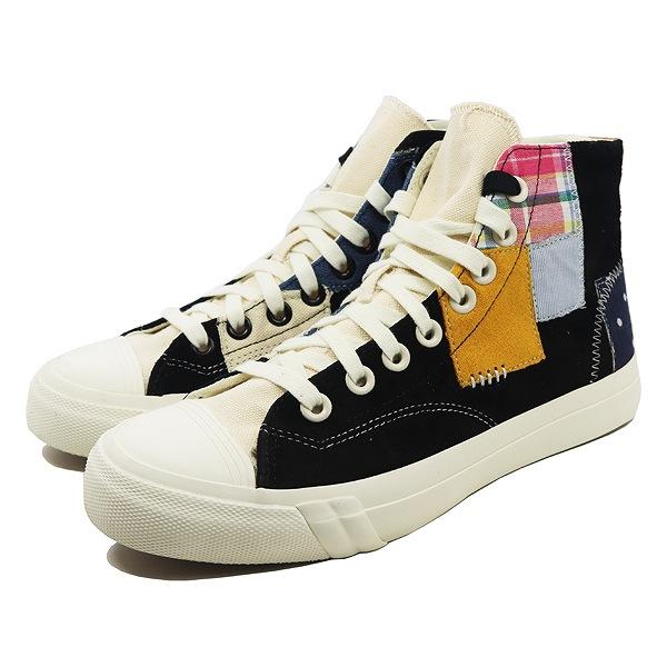 【プロケッズ】 プロケッズ×フットパトロール ロイヤル ハイ パッチワーク [サイズ:25.5cm(US7.5)] [カラー:Black] #PH56034 【靴:メンズ靴:スニーカー】【PH56034】【PRO-Keds PRO-Keds × FOOTPATROL ROYAL HI PATCHWORK BLACK】