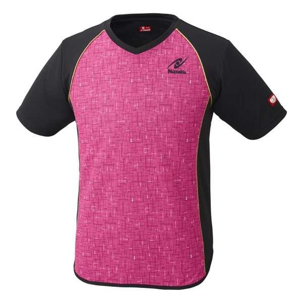 【ニッタク】 卓球ゲームシャツ デジックシャツ [サイズ:M] [カラー:ピンク] #NW-2185-21 【スポーツ・アウトドア:卓球:ウェア:メンズウェア:シャツ】【NITTAKU DIGIC SHIRT】