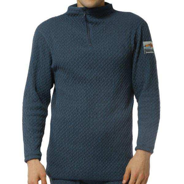 【ひだまり】 ひだまりチョモランマ 紳士ハイネックアンダーシャツ [サイズ:M] [カラー:ネイビー] #QM901 【スポーツ・アウトドア:アウトドア:ウェア:メンズウェア:防寒インナー】【HIDAMARI】