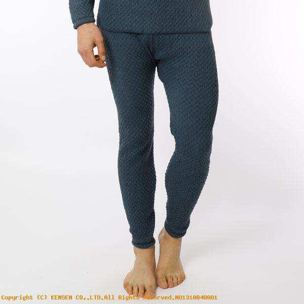 【ひだまり】 ひだまりチョモランマ 紳士ズボン下 [サイズ:L] [カラー:ネイビー] #QM952 【スポーツ・アウトドア:アウトドア:ウェア:メンズウェア:防寒インナー】【HIDAMARI】