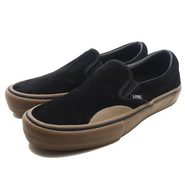 【バンズ】 バンズ スリッポン プロ [サイズ:27.5cm(US9.5)] [カラー:(ラバー) ブラック×ガム] #VN0A347VUHX 【靴:メンズ靴:スニーカー】【VN0A347VUHX】【VANS VANS CLASSIC SLIP-ON (Camo) Black】