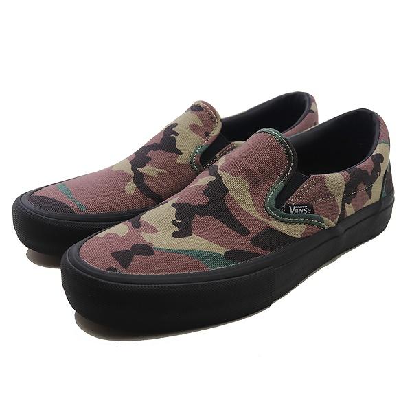 【バンズ】 バンズ スリッポン プロ [サイズ:27.5cm(US9.5)] [カラー:(カモ) ブラック] #VN0A347VKAF 【靴:メンズ靴:スニーカー】【VN0A347VKAF】【VANS VANS CLASSIC SLIP-ON (FLAME)BLACK/BLACK/TRUE WHITE】