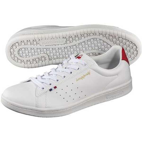【5%offクーポン(要獲得) 12/26 9:59まで】 LA ローラン SL [サイズ:24.5cm] [カラー:ホワイト×レッド] #QL1NJC08WR 【ルコックスポルティフ: 靴 レディース靴 スニーカー】【LE COQ SPORTIF】