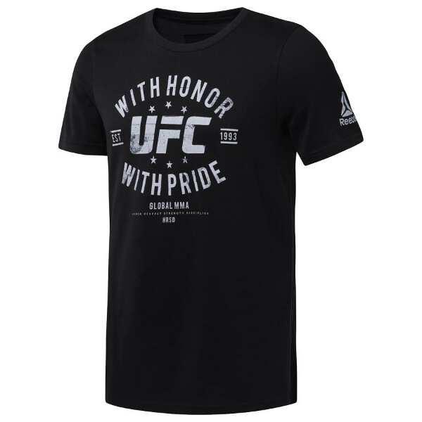 【リーボック】 UFC HONOR&PRIDE S/S Tシャツ [サイズ:M] [カラー:ブラック] #DU4587 【スポーツ・アウトドア:フィットネス・トレーニング:ウェア:メンズウェア】【REEBOK】