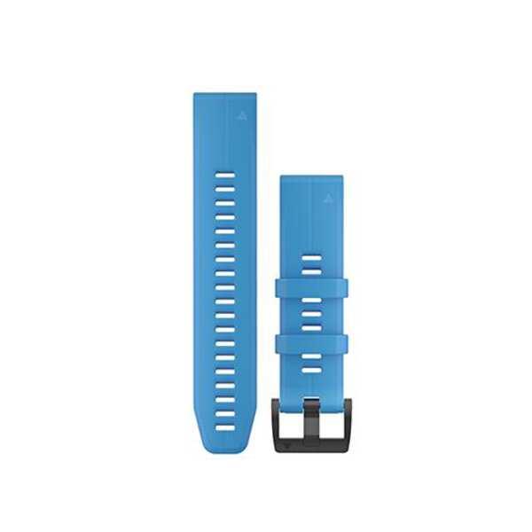 【5%offクーポン(要獲得) 12/26 9:59まで】 QuickFitバンド 22mm ベルト交換キット [カラー:ラインシアンブルー] #010-12740-63 【ガーミン: スポーツ・アウトドア アウトドア 精密機器類】【GARMIN QuickFit 22mm Line Cyan blue】