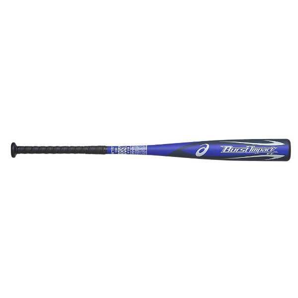 【アシックス】 一般軟式野球FRP製バット バーストインパクトEX [サイズ:83cm(730g平均)] [カラー:ブルー×ブラック] #BB4035-400 【スポーツ・アウトドア:野球・ソフトボール:バット:大人用バット】【ASICS BURST IMPACT EX】