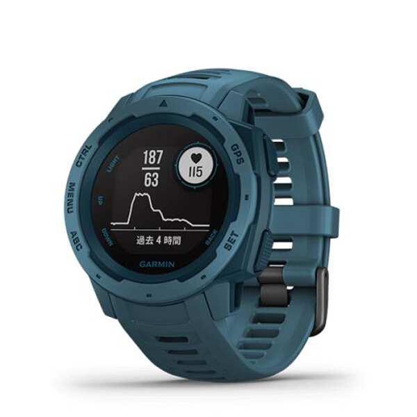 【ガーミン】 Instinct Lakeside Blue(インスティンクト レイクサイドブルー) 日本語正規版 #010-02064-52 【スポーツ・アウトドア:アウトドア:精密機器類:GPS:GPS本体】【GARMIN Instinct Lakeside Blue】