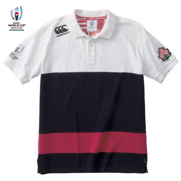 【カンタベリ―】 RWC2019 ショートスリーブ ラガ― ポロ(メンズ) [サイズ:XL] [カラー:ホワイト] #VWT39110-10 【スポーツ・アウトドア:ラグビー:ウェア:シャツ】【CANTERBURY RWC2019 S/S RUGGER(Mens)】