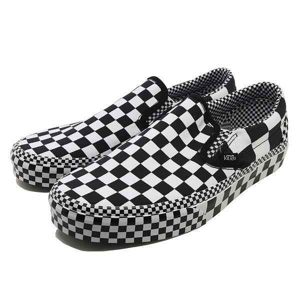 【5%offクーポン(要獲得) 12/26 9:59まで】 バンズ クラシック スリッポン (All Over Ckrbrd) [サイズ:27.5cm(US9.5)] [カラー:ブラック×ホワイト] #VN0A4BV3V8U 【バンズ: 靴 メンズ靴 スニーカー】【VANS VANS CLASSIC SLIP-ON】