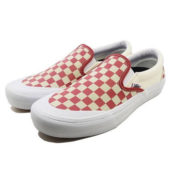 【バンズ】 バンズ スリッポン プロ (Checkerboard) [サイズ:26.5cm(US8.5)] [カラー:ミネラルレッド] #VN0A347VV0I 【靴:メンズ靴:スニーカー】【VN0A347VV0I】【VANS VANS SLIP-ON PRO】