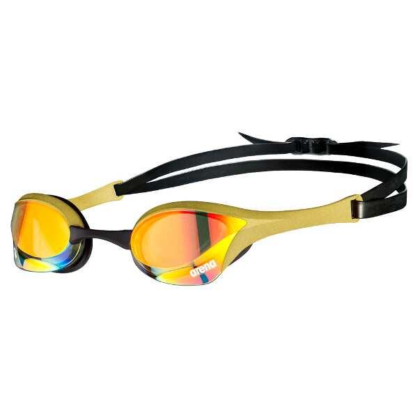 【アリーナ】 くもり止めスイムグラス COBRA ULTRA MIRROR SWIPE(限定品) [カラー:イエロー×ゴールド×ブラック] [サイズ:フリー] #AGL-O180M-YEGL 【スポーツ・アウトドア:水泳:スイミングゴーグル】【ARENA】