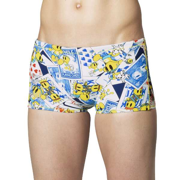 【アリーナ】 TOUGHSUIT ショートボックス [サイズ:M] [カラー:ネイビー・ブルー×イエロー×ブラック] #FSA9610-NVBU 【スポーツ・アウトドア:水泳:競技水着:メンズ競技水着】【ARENA】
