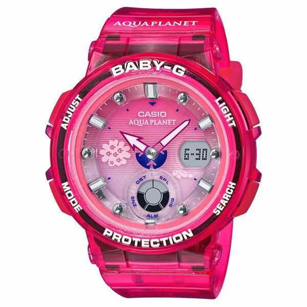 【カシオ】 BABY-G アクアプラネットコラボ ビーチトラベラーシリーズ 国内正規品 #BGA-250AQ-4AJR 【スポーツ・アウトドア:アウトドア:精密機器類:ウォッチ】【CASIO】