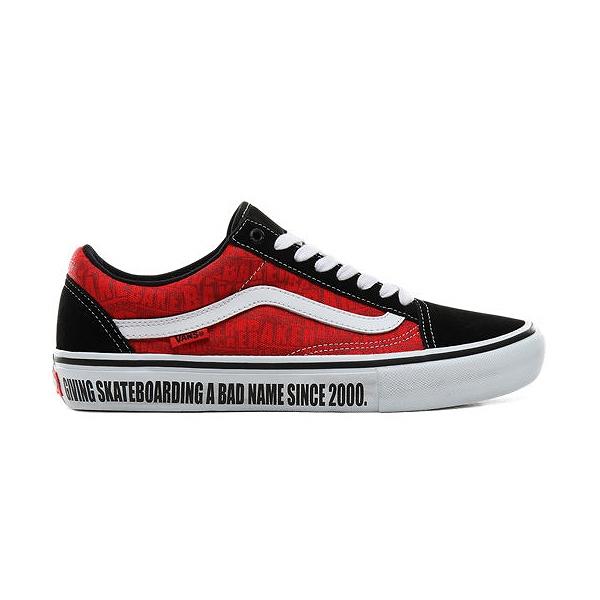 【バンズ】 バンズ オールドスクール プロ (Baker) [サイズ:27cm(US9)] [カラー:ブラック×ホワイト×レッド] #VN0A45JCUZV 【靴:メンズ靴:スニーカー】【VN0A45JCUZV】【VANS VANS Old Skool Pro】