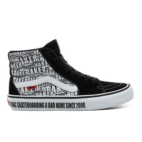 【バンズ】 バンズ スケート ハイ プロ (Baker) [サイズ:27cm(US9)] [カラー:ブラック×ホワイト] #VN0A45JDV0B 【靴:メンズ靴:スニーカー】【VN0A45JDV0B】【VANS VANS SK8-HI PRO】