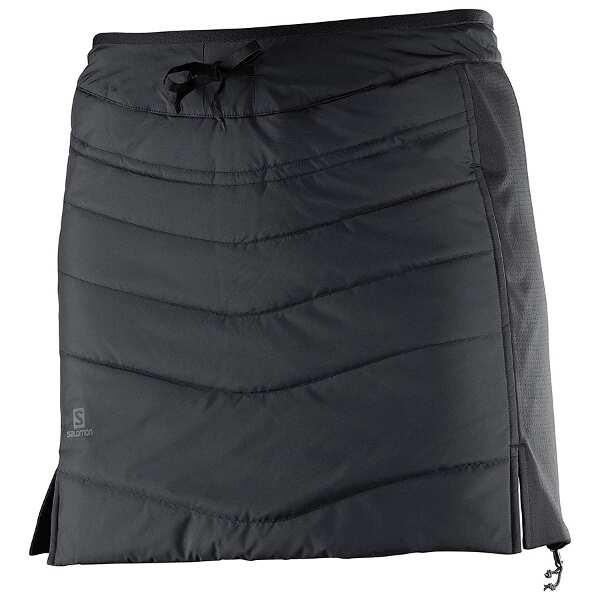 【5%offクーポン(要獲得) 12/26 9:59まで】 DRIFTER MID スカート W(レディース) [サイズ:S] [カラー:ブラック] #L39745700 【サロモン: スポーツ・アウトドア アウトドア ウェア】【SALOMON】