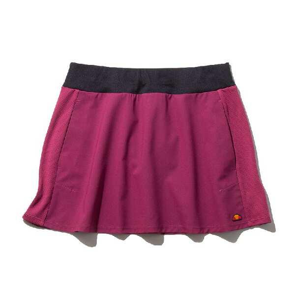 【エレッセ】 ベースラインウーブンスカート [サイズ:M] [カラー:ボルミオレッド] #EW29302-BR 【スポーツ・アウトドア:テニス:レディースウェア:スカート・スコート】【ELLESSE Baseline Woven Skirt】