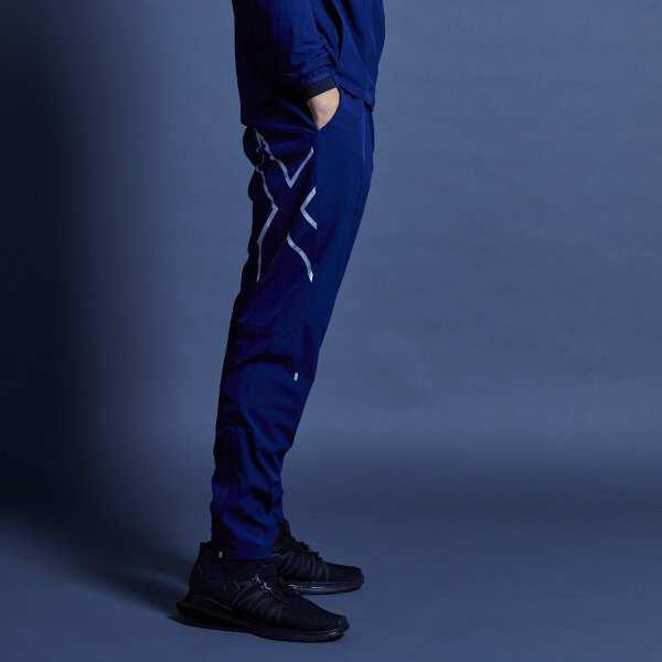 【ツータイムズユ―】 メンズ ストレッチウーブン ロングパンツ [サイズ:XL] [カラー:ネイビー×シルバー] #MR6005B-NVYSIL 【スポーツ・アウトドア:その他雑貨】【2XU】