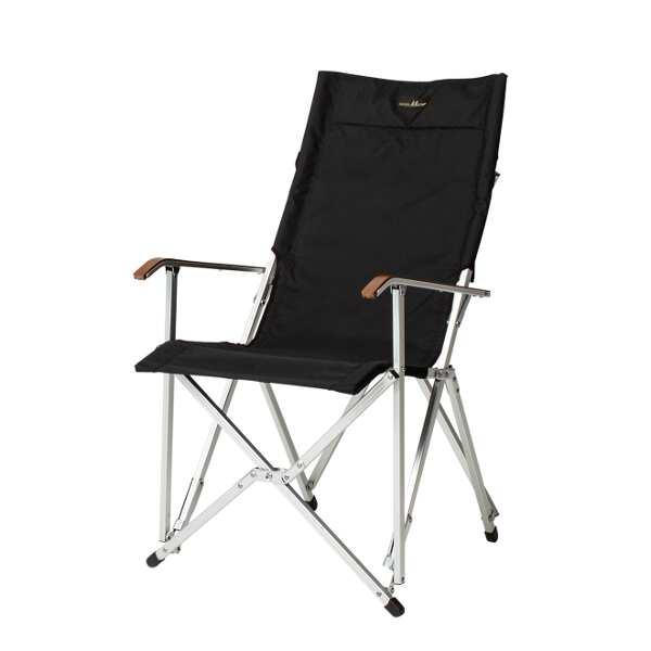 【小川キャンパル】 ハイバックチェア コーデュラ [カラー:ブラック] [サイズ:座面/幅50×高さ43×奥行40cm、全高/94cm] #1917-90 【スポーツ・アウトドア:その他雑貨】【OGAWA CAMPAL HighBack Chair】