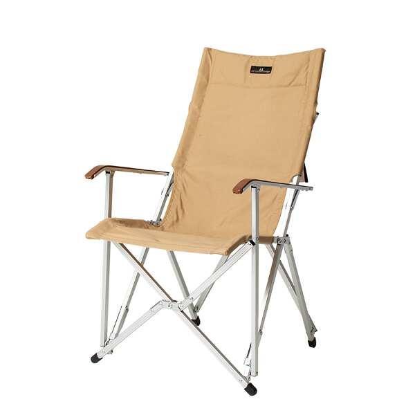 【小川キャンパル】 ハイバックチェア コットン [カラー:サンドベージュ] [サイズ:座面/幅50×高さ43×奥行40cm、全高/94cm] #1918-70 【スポーツ・アウトドア:その他雑貨】【OGAWA CAMPAL HighBack Chair】
