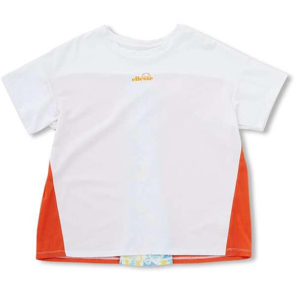 【エレッセ】 ショートスリーブバックタックシャツ(レディース) [サイズ:M] [カラー:ホワイト×オレンジ] #EW00108-WO 【スポーツ・アウトドア:テニス:レディースウェア】【ELLESSE S/S Back Tack Shirts】