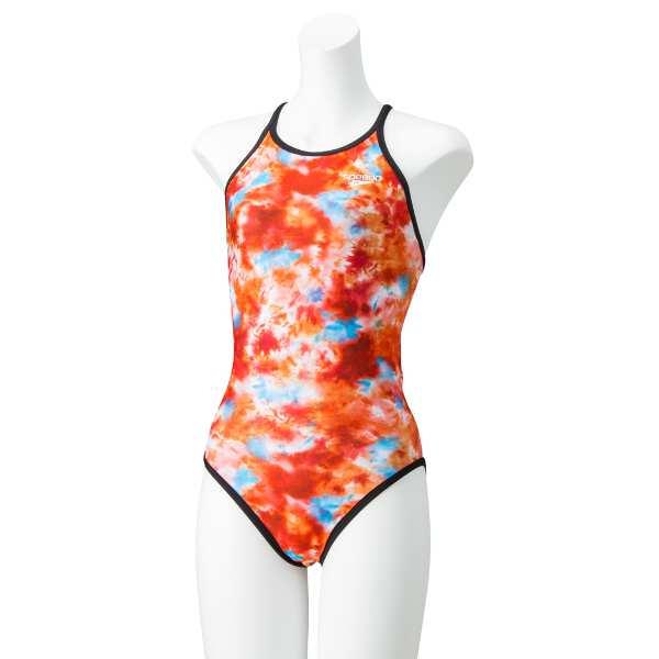 【スピード】 タイダイターンズスーツ(レディース練習水着) [サイズ:L] [カラー:サンオレンジ] #STW02005-SO 【スポーツ・アウトドア:水泳:競技水着:レディース競技水着】【SPEEDO TurnS Tie Dye TurnS Suit】