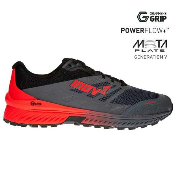 【イノベイト】 トレイルロック G 280 MS トレイルランニングシューズ(グラフェン搭載) [サイズ:28.5cm] [カラー:グレー×レッド] #NO2PGG06GD-GRD 【スポーツ・アウトドア:登山・トレッキング:靴・ブーツ】【INOV-8 TRAILROC G 280 MS】