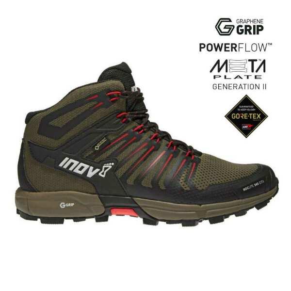 【イノベイト】 ロックライト G 345 GTX MS(ゴアテックス・グラフェン搭載) [サイズ:26.0cm] [カラー:ブラウン×レッド] #NO2PGG09BR-BRD 【スポーツ・アウトドア:登山・トレッキング:靴・ブーツ】【INOV-8 ROCLITE G 345 GTX MS】