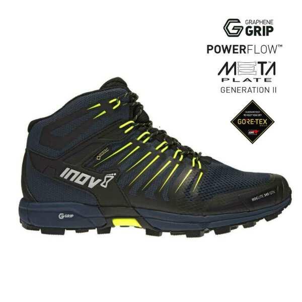 【イノベイト】 ロックライト G 345 GTX MS(ゴアテックス・グラフェン搭載) [サイズ:26.5cm] [カラー:ネイビー×イエロー] #NO2PGG10NY-NYL 【スポーツ・アウトドア:登山・トレッキング:靴・ブーツ】【INOV-8 ROCLITE G 345 GTX MS】