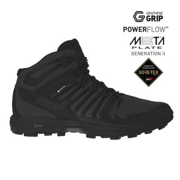 【イノベイト】 ロックライト G 345 GTX UNI(ゴアテックス・グラフェン搭載) [サイズ:26.0cm] [カラー:ブラック] #NO1PGG61BK-BLK 【スポーツ・アウトドア:登山・トレッキング:靴・ブーツ】【INOV-8 ROCLITE G 345 GTX UNI】