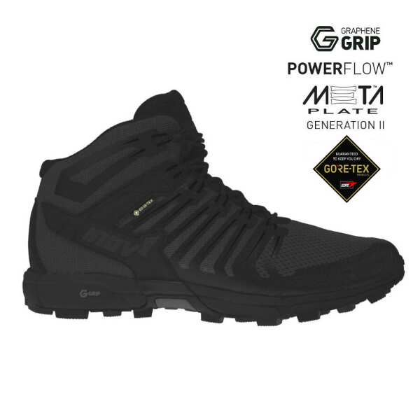 【イノベイト】 ロックライト G 345 GTX UNI(ゴアテックス・グラフェン搭載) [サイズ:27.5cm] [カラー:ブラック] #NO1PGG61BK-BLK 【スポーツ・アウトドア:登山・トレッキング:靴・ブーツ】【INOV-8 ROCLITE G 345 GTX UNI】