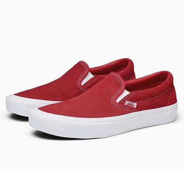 【バンズ】 バンズ スリッポン プロ (Suede) [サイズ:26cm(US8)] [カラー:レッド×ホワイト] #VN0A347VAJL 【靴:メンズ靴:スニーカー】【VN0A347VAJL】【VANS VANS SLIP-ON PRO】