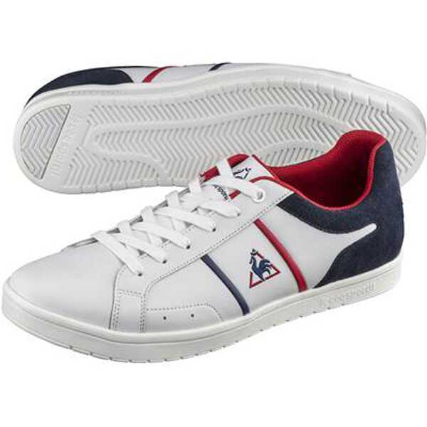 【ルコックスポルティフ】 サンラザール [サイズ:24.0cm] [カラー:ホワイト×トリコロール] #QL1OJC54WT-F 【靴:レディース靴:スニーカー】【LE COQ SPORTIF ST LAZARE】