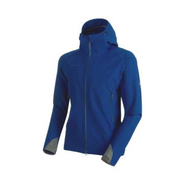 【マムート】 ランボールド トレイル SO フーデッド ジャケット AF(メンズ) [サイズ:M] [カラー:ウルトラマリン] #101123001-5967 【スポーツ・アウトドア:その他雑貨】【MAMMUT Runbold Trail SO Hooded Jacket AF Men】