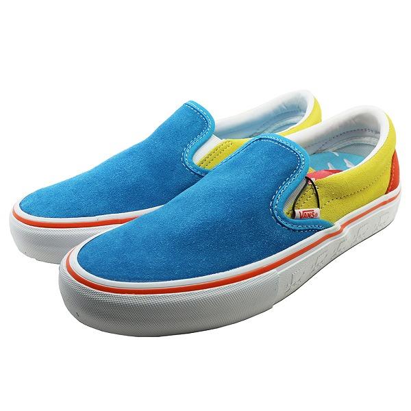 【バンズ】 バンズ スリッポン プロ (Tae Simpsons) [サイズ:29cm(US11)] [カラー:ブルー×イエロー] #VN0A347V13M 【靴:メンズ靴:スニーカー】【VN0A347V13M】【VANS VANS Slip-On Pro】