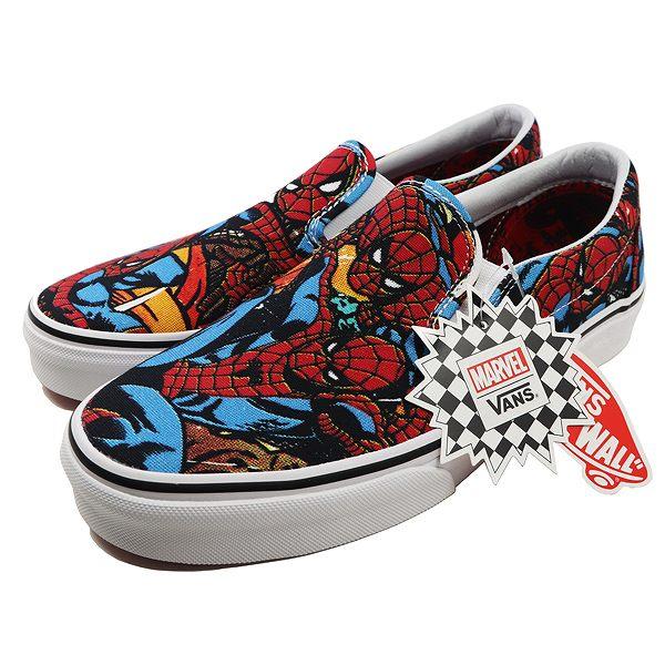 【バンズ】 バンズ クラシックスリッポン (MARVEL) [サイズ:28.5cm(US10.5)] [カラー:スパイダーマン×ブラック] #VN0A38F79H7 【靴:メンズ靴:スニーカー】【VN0A38F79H7】【VANS VANS CLASSIC SLIP-ON】