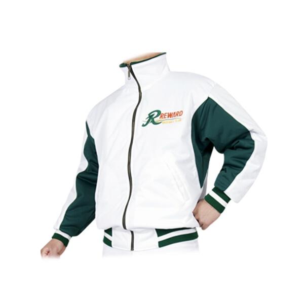 【レワード】 野球グランドコート [カラー:ホワイト×グリーン] [サイズ:O] #GW-70 【スポーツ・アウトドア:野球・ソフトボール:ウェア:グランドコート】【REWARD】